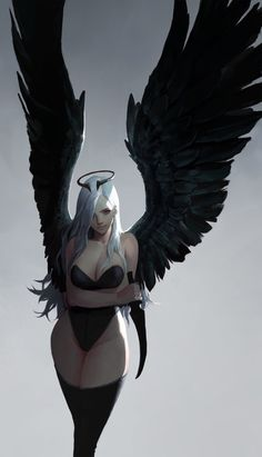 Tagged with art, hot, fantasy; Neat Fantasy Art by dongho Kang. Dark Fantasy Art, Fantasy Girl, Fantasy Anime, Fantasy Women, Fantasy Artwork, Dark Art, Fantasy Art Angels, Angel And Devil, Angel Or Demon