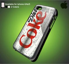 Diet Coke Cola- iPhone Case iPhone 4 Case iPhone 4S Case iPhone 5 Case iPhone 4 / 4S / 5 Case Hard Cover (DEFAULT : iPhone 5 Black Case)