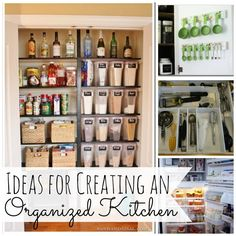 Great diy ideas for creating a more organized, functional kitchen.