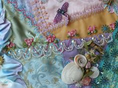 I ❤ crazy quilting, beading & ribbon embroidery . . . Under The Sea Quilt ~By don'tcallmecrafty