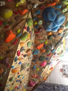 A Custom Climbing Wall in your Home