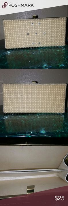 Adorable Vintage Clutch Little pearls and crystals.  Super cute Bags Clutches & Wristlets