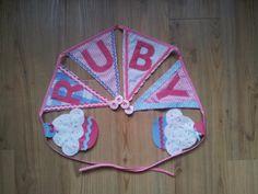 Ruby bunting by @ffabrig