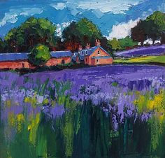 Linseed Fields by Scottish Contemporary Artist Lynn RODGIE