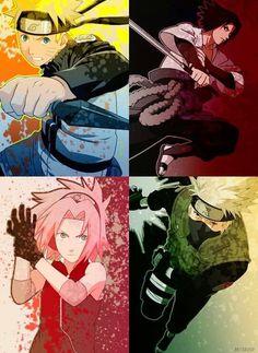 Naruto shipudden team 7 : Naruto Sasuke Sakura Kakashi