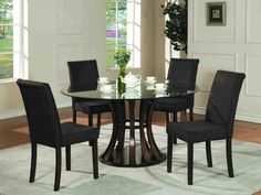 Stunning Round Glass Dining Table Set With White Cabinet 3477 throughout dimensions 1143 X 862 Glass Top Round Kitchen Table Sets - Conventional kitchen Round Glass Kitchen Table, Round Dining Table Sets, Glass Round Dining Table, Kitchen Tables, Glass Table, Table Bases, Small Dining, Black Dining Room Table, Dining Table Chairs