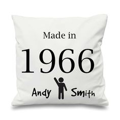 Birthday Cushion Cover Made in Personalised by LittleLuxuriesGB