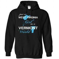 (WVJustXanh001) Just A West Virginia Girl In A Vermont  - #disney shirt #victoria secret hoodie. BEST BUY => https://www.sunfrog.com/Valentines/-28WVJustXanh001-29-Just-A-West-Virginia-Girl-In-A-Vermont-World-Black-Hoodie.html?68278