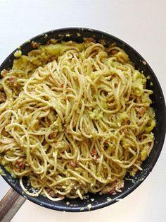 receta de Carbonara de aguacate y calabacín