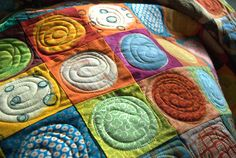 Colourful circles quilt Flickr