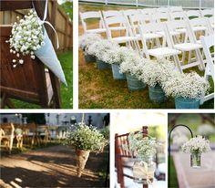 Ideas originales para decorar el camino hacia el altar, en una boda al aire libre