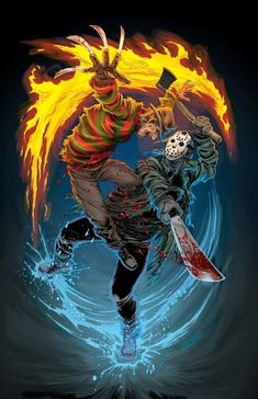 Slasher Movies, Horror Movie Characters, Horror Movies, Freddy Krueger, Jason Voorhees, Arte Horror, Horror Art, Robert Englund, Kino Film