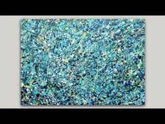 Abstract Multicolored Splatter Acrylic Painting - YouTube
