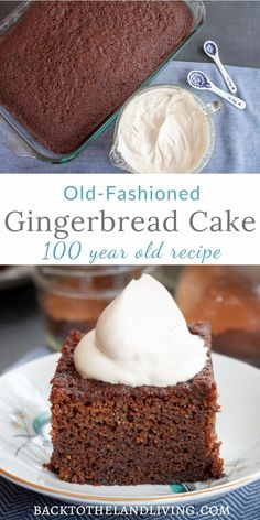 Gingerbread Cake Recipe This gingerbread cake is a classic dessert that is perfect to serve year round. Learn how to make this delicious and simple 100 year old cake recipe! Köstliche Desserts, Holiday Baking, Christmas Desserts, Christmas Baking, Delicious Desserts, Dessert Recipes, Allrecipes Desserts, Fall Cake Recipes, Food Cakes