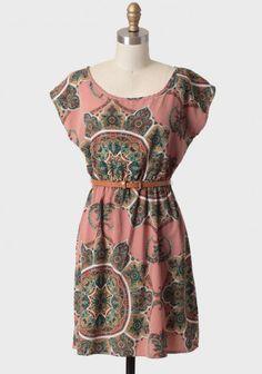 mumbai city paisley belted dress