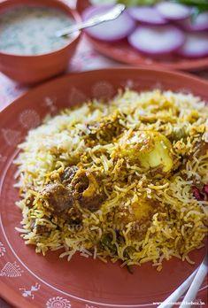 Rice Recipes, Indian Food Recipes, Gourmet Recipes, Cooking Recipes, Healthy Recipes, Biryani Rice Recipe, Chaat Recipe, Kolkata, Calories In Vegetables