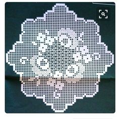 This Pin was discovered by naf Crochet Doily Diagram, Filet Crochet Charts, Crochet Doily Patterns, Crochet Doilies, Cross Stitch Patterns, Crochet Toddler Dress, Crochet Placemats, Fillet Crochet, Unique Crochet