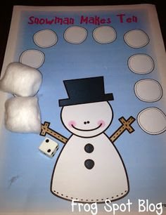 FREE Snowman Makes Ten Print and PLay