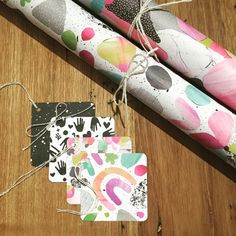 Because sometimes what you need to finish off the perfect gift wrap is a matching tag... Enter these Laura Blythman gift wraps with matching gift tags! www.thepaperempire.com.au