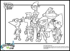 phineas and ferb coloring things for my sweet babies
