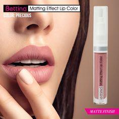 """Para hoy viernes, un tono suave con terminación mate, #Bettina Matting Effect Lip Color en color """"Precious"""". ¡No reseca tus labios! #mattelips"""