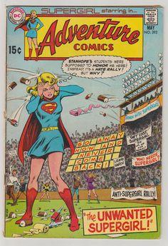 Adventure Comics Vol 1 393 Bronze Age Comic Book.  VG/FN. #adventurecomics #supergirl #comicsforsale