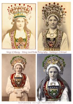 Norwegian Sunday: Bridal Crowns – Part V, Photography - - Around the turn of the century, Norwegian photographer Solveig Lund made a good living photographing bunad wear and bridal attires. She was based in Oslo, and at one point had 3 differe…. Bride Tiara, Headpiece Wedding, Bridal Headpieces, Wedding Veils, Wedding Hair, Bridal Hair, Gold Wedding Crowns, Fairytale Bridal, Bride Hair Accessories