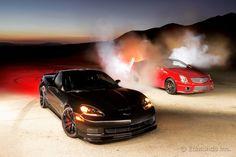 Burnout Super Test: Corvette Z06 Centennial Edition vs. Cadillac CTS-V Coupe