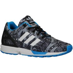 adidas Originals ZX Flux - Boys' Grade School - Black/White/Solar Blue