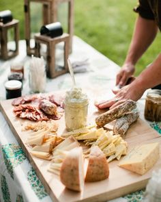 House-made cheeses, charcuterie, and preserves for guests to snack on
