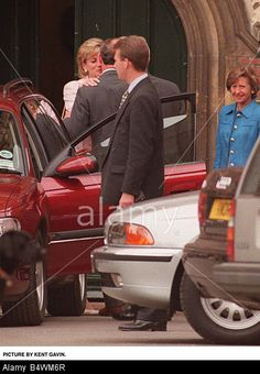 May 29, 1996: Prince Charles and Princess Diana kissing after being at Eton College for Eton Open Day to see son Prince William.