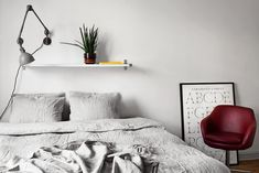 Linen duvet cover | my scandinavian home: A cosy monochrome space in Stockholm