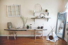 3 Ways To Use Antique Window Panes. love that last photo. super creative!