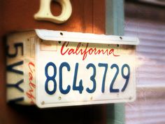 (Customizable State) Upcycled Wall Mount Mailbox California License Plate by LicenseToCraft, $35.00