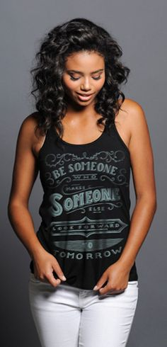 Look Forward To Tomorrow Tank at http://www.sevenly.org/product/519ce44b21690f7451000002?cid=ShrPinterestProductDetail