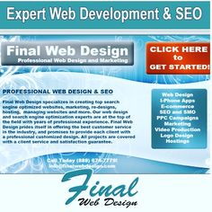 Every project Final Web Design completes is done with the utmost professionalism and accountability to detail. We know that when your business succeeds, our business succeeds!  Final Web Design understands that maintaining a long-term relationship with our clients requires results, excellent customer service, quality products and a deep understanding of the business.  Find out more by visiting our website at https://FinalWebDesign.com or calling us today at (888) 674-7779