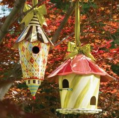 mackenzie childs birdhouses