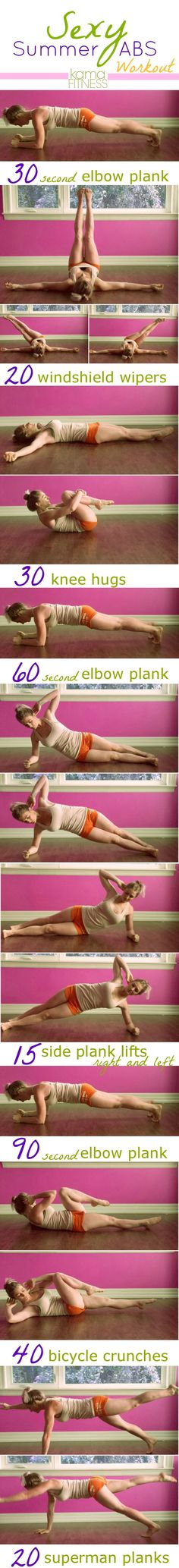 Sexy summer abs workout. #Fitgirlcode #abs #workout