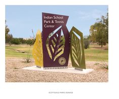 - Lily: A di-cut with text attached to the signage. Scottsdale Parks Signage System