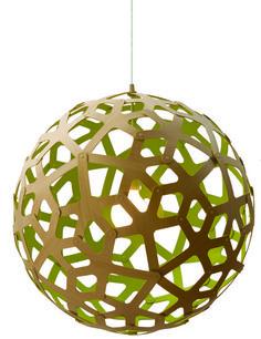 lamp coral met gekleurde binnenkant doorsnede 80 cm David trubridge -kaky