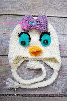 Crohet duck hat by Anamaria Ami