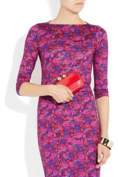DVF clutch w/ Erdem dress. Great, fun, cheery, spring, styling!
