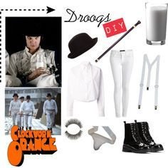 """Clockwork Orange DIY costume."" by eleuelei on Polyvore                                                                                                                                                                                 More"