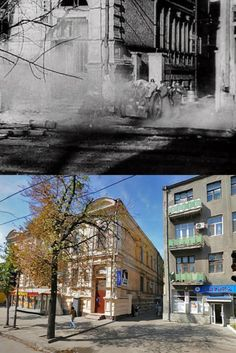 A great picture of before and after. Kharkov,1943