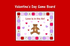 Speech Therapy Ideas: Valentine's Day Game Board. Pinned by SOS Inc. Resources. Follow all our boards at pinterest.com/sostherapy/ for therapy resources.