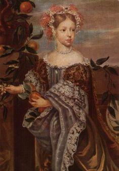 Leopoldine Eleonore von der Pfalz-Neuburg, Prinzessin von Kurpfalz und Pfalzgräfin von Neuburg. (* 27. Mai 1679 in Neuburg an der Donau; † 8. März 1693 in Düsseldorf)   Sie war das jüngste von 17 Kinder des Kurfürsten Philipp Wilhelm von der Pfalz aus seiner zweiter Ehe mit Landgräfin Elisabeth Amalie von Hessen-Darmstadt. Sie war mit Kurfürst Maximilian II. Emanuel verlobt, starb aber noch vor der Hochzeit.  http://de.wikipedia.org/wiki/Leopoldine_Eleonore_von_der_Pfalz