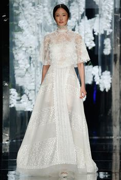 YolanCris 2016 bridal collection - launched at Barcelona Bridal Fashion Week Sheer Wedding Dress, Wedding Dress Trends, New Wedding Dresses, Bridal Dresses, Wedding Blog, Wedding Ideas, Wedding Favours, Wedding Pics, Wedding Ceremony