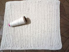 tapete feito em croche ponto nozinho   fácil ( DIY ).