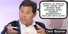 #Google ve #Apple ın amacı araba yapıp satarak para kazanmak değil. Arabada geçireceğiniz saatleri satmak:) #CemBoyner #futurist