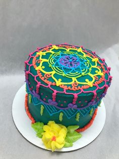 Colorful Henna Cake! 🌸